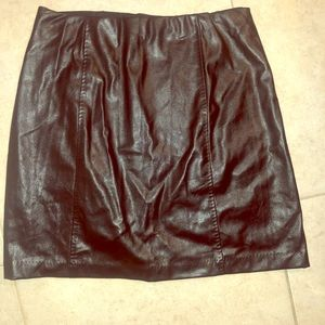 M. S. S. P. Vegan leather skirt